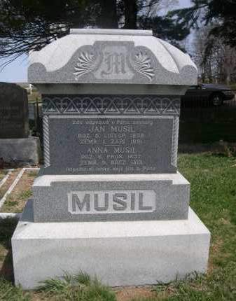 MUSIL, JAN - Colfax County, Nebraska | JAN MUSIL - Nebraska Gravestone Photos