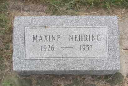 NEHRING, MAXINE - Colfax County, Nebraska   MAXINE NEHRING - Nebraska Gravestone Photos