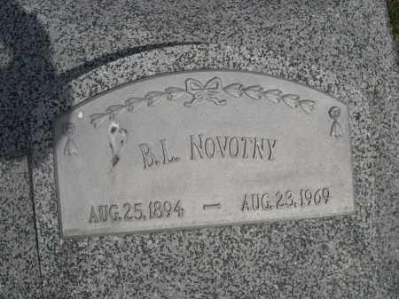 NOVOTNY, B.L. - Colfax County, Nebraska   B.L. NOVOTNY - Nebraska Gravestone Photos