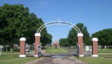 *SCHUYLER CEMETERY, ENTRANCE GATE FOR THE - Colfax County, Nebraska   ENTRANCE GATE FOR THE *SCHUYLER CEMETERY - Nebraska Gravestone Photos