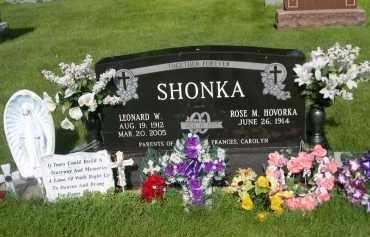 SHONKA, LEONARD W. - Colfax County, Nebraska | LEONARD W. SHONKA - Nebraska Gravestone Photos