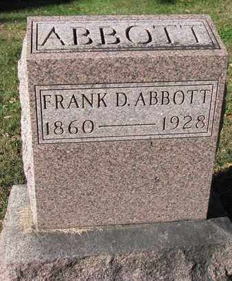 ABBOTT, FRANK D. - Cuming County, Nebraska | FRANK D. ABBOTT - Nebraska Gravestone Photos