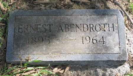 ABENDROTH, ERNEST - Cuming County, Nebraska | ERNEST ABENDROTH - Nebraska Gravestone Photos