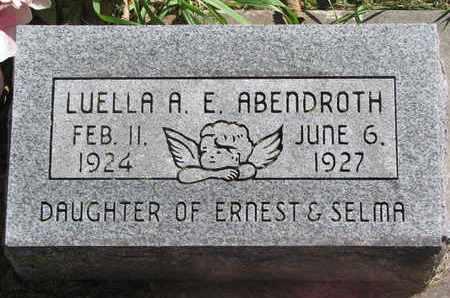 ABENDROTH, LUELLA A.E. - Cuming County, Nebraska   LUELLA A.E. ABENDROTH - Nebraska Gravestone Photos