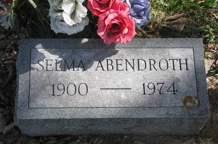 ABENDROTH, SELMA - Cuming County, Nebraska | SELMA ABENDROTH - Nebraska Gravestone Photos