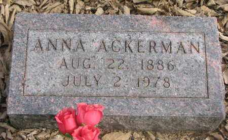 ACKERMAN, ANNA - Cuming County, Nebraska | ANNA ACKERMAN - Nebraska Gravestone Photos
