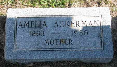 ACKERMAN, AMELIA - Cuming County, Nebraska | AMELIA ACKERMAN - Nebraska Gravestone Photos