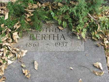 ACKERMAN, BERTHA #2 - Cuming County, Nebraska | BERTHA #2 ACKERMAN - Nebraska Gravestone Photos