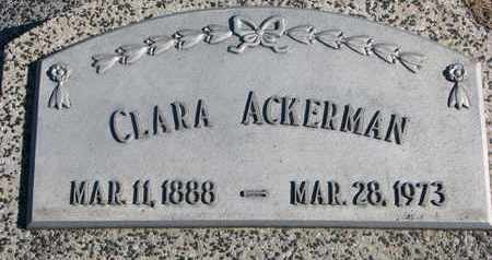 ACKERMAN, CLARA - Cuming County, Nebraska | CLARA ACKERMAN - Nebraska Gravestone Photos