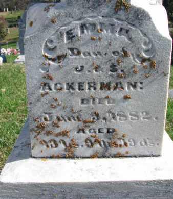 ACKERMAN, EMMA (CLOSE UP) - Cuming County, Nebraska | EMMA (CLOSE UP) ACKERMAN - Nebraska Gravestone Photos