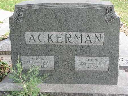ACKERMAN, BERTHA - Cuming County, Nebraska | BERTHA ACKERMAN - Nebraska Gravestone Photos