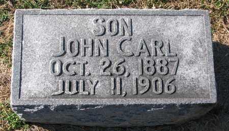ACKERMAN, JOHN CARL - Cuming County, Nebraska | JOHN CARL ACKERMAN - Nebraska Gravestone Photos