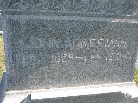 ACKERMAN, JOHN (CLOSE UP) - Cuming County, Nebraska | JOHN (CLOSE UP) ACKERMAN - Nebraska Gravestone Photos