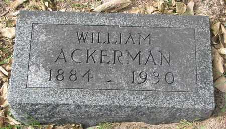 ACKERMAN, WILLIAM #1 - Cuming County, Nebraska | WILLIAM #1 ACKERMAN - Nebraska Gravestone Photos