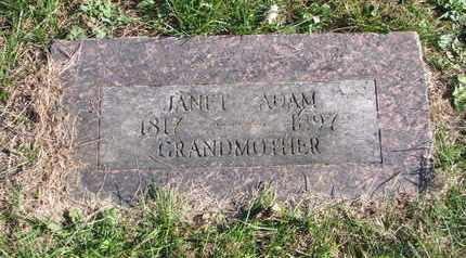 ADAM, JANET - Cuming County, Nebraska | JANET ADAM - Nebraska Gravestone Photos
