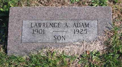 ADAM, LAWRENCE A. - Cuming County, Nebraska | LAWRENCE A. ADAM - Nebraska Gravestone Photos