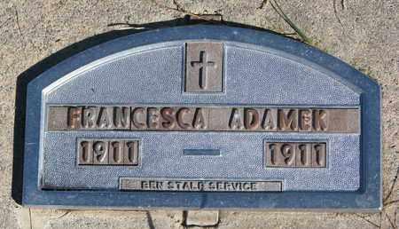ADAMEK, FRANCESCA - Cuming County, Nebraska | FRANCESCA ADAMEK - Nebraska Gravestone Photos