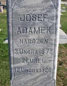ADAMEK, JOSEF (CLOSE UP) - Cuming County, Nebraska | JOSEF (CLOSE UP) ADAMEK - Nebraska Gravestone Photos