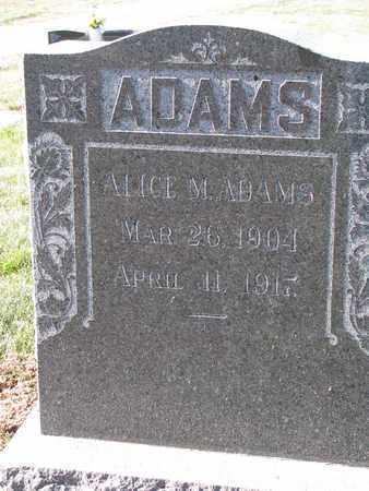 ADAMS, ALICE M. - Cuming County, Nebraska   ALICE M. ADAMS - Nebraska Gravestone Photos