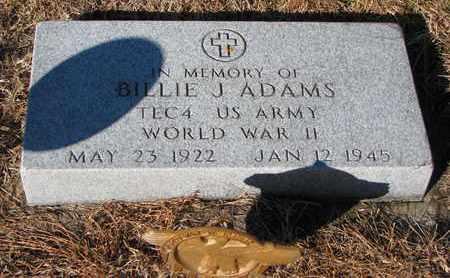 ADAMS, BILLIE J. - Cuming County, Nebraska   BILLIE J. ADAMS - Nebraska Gravestone Photos