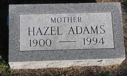 ADAMS, HAZEL - Cuming County, Nebraska | HAZEL ADAMS - Nebraska Gravestone Photos