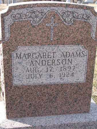 ADAMS, MARGARET - Cuming County, Nebraska | MARGARET ADAMS - Nebraska Gravestone Photos