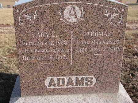 ADAMS, MARY E. - Cuming County, Nebraska | MARY E. ADAMS - Nebraska Gravestone Photos