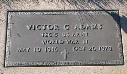 ADAMS, VICTOR G. - Cuming County, Nebraska | VICTOR G. ADAMS - Nebraska Gravestone Photos