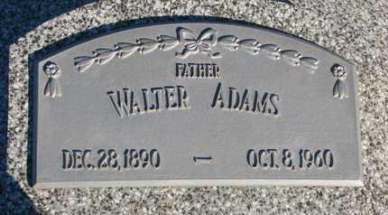 ADAMS, WALTER - Cuming County, Nebraska | WALTER ADAMS - Nebraska Gravestone Photos