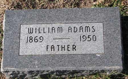 ADAMS, WILLIAM - Cuming County, Nebraska | WILLIAM ADAMS - Nebraska Gravestone Photos
