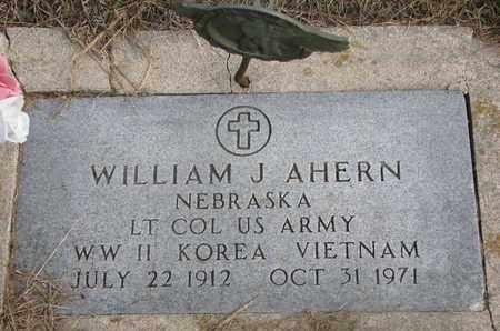 AHERN, WILLIAM J. - Cuming County, Nebraska | WILLIAM J. AHERN - Nebraska Gravestone Photos