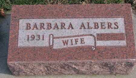ALBERS, BARBARA - Cuming County, Nebraska | BARBARA ALBERS - Nebraska Gravestone Photos