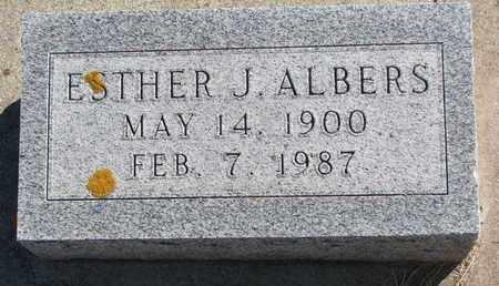 ALBERS, ESTHER J. - Cuming County, Nebraska   ESTHER J. ALBERS - Nebraska Gravestone Photos