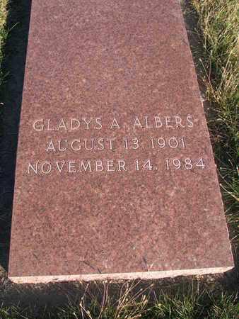 ALBERS, GLADYS A. - Cuming County, Nebraska | GLADYS A. ALBERS - Nebraska Gravestone Photos