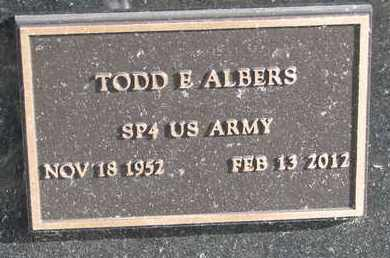 ALBERS, TODD E. (MILITARY MARKER) - Cuming County, Nebraska   TODD E. (MILITARY MARKER) ALBERS - Nebraska Gravestone Photos