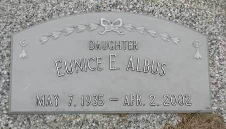 ALBUS, EUNICE E. - Cuming County, Nebraska | EUNICE E. ALBUS - Nebraska Gravestone Photos