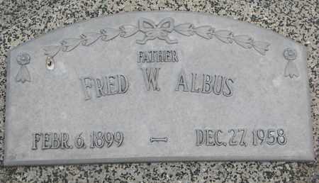 ALBUS, FRED W. - Cuming County, Nebraska | FRED W. ALBUS - Nebraska Gravestone Photos