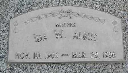 ALBUS, IDA W. - Cuming County, Nebraska   IDA W. ALBUS - Nebraska Gravestone Photos