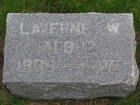 ALBUS, LAVERNE W. - Cuming County, Nebraska   LAVERNE W. ALBUS - Nebraska Gravestone Photos