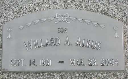ALBUS, WILLARD A. - Cuming County, Nebraska   WILLARD A. ALBUS - Nebraska Gravestone Photos