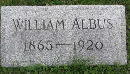 ALBUS, WILLIAM - Cuming County, Nebraska | WILLIAM ALBUS - Nebraska Gravestone Photos