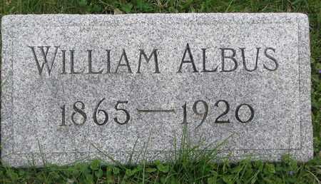 ALBUS, WILLIAM - Cuming County, Nebraska | WILLIAM ALBUS - Nebraska Gravestone Photos