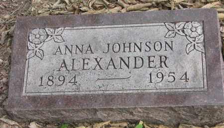 ALEXANDER, ANNA - Cuming County, Nebraska | ANNA ALEXANDER - Nebraska Gravestone Photos