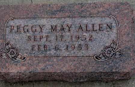 ALLEN, PEGGY MAY - Cuming County, Nebraska   PEGGY MAY ALLEN - Nebraska Gravestone Photos