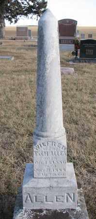 ALLEN, WILFRED - Cuming County, Nebraska   WILFRED ALLEN - Nebraska Gravestone Photos