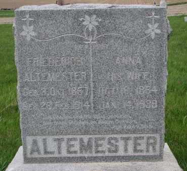 ALTEMESTER, FRIEDRICH - Cuming County, Nebraska | FRIEDRICH ALTEMESTER - Nebraska Gravestone Photos