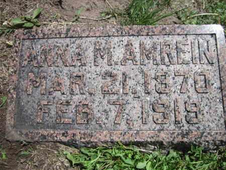 AMREIN, ANNA M. - Cuming County, Nebraska | ANNA M. AMREIN - Nebraska Gravestone Photos