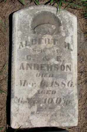 ANDERSON, ALBERT H. - Cuming County, Nebraska | ALBERT H. ANDERSON - Nebraska Gravestone Photos
