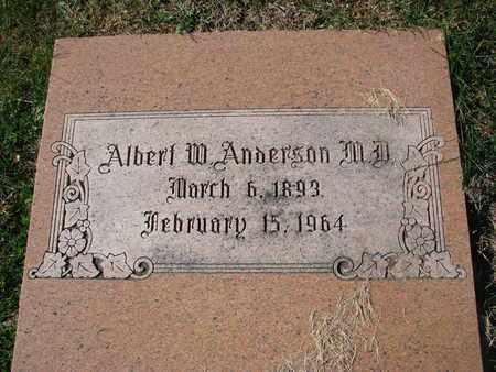 ANDERSON, ALBERT W. (M.D.) - Cuming County, Nebraska | ALBERT W. (M.D.) ANDERSON - Nebraska Gravestone Photos
