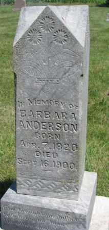 ANDERSON, BARBARA - Cuming County, Nebraska | BARBARA ANDERSON - Nebraska Gravestone Photos